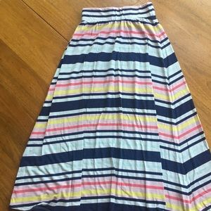 Girls striped maxi skirt
